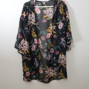Divided floral kimono sheer size xs
